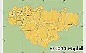 Savanna Style Map of Comoe, single color outside