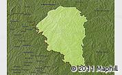 Physical 3D Map of Niangoloko, darken