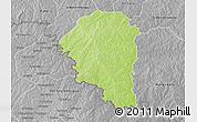 Physical 3D Map of Niangoloko, desaturated