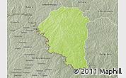 Physical 3D Map of Niangoloko, semi-desaturated