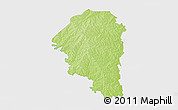 Physical 3D Map of Niangoloko, single color outside
