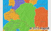 Political 3D Map of Niangoloko