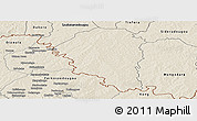 Shaded Relief Panoramic Map of Niangoloko