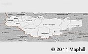 Gray Panoramic Map of Comoe