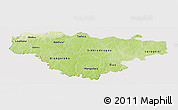 Physical Panoramic Map of Comoe, cropped outside
