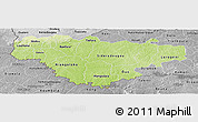 Physical Panoramic Map of Comoe, desaturated