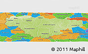 Physical Panoramic Map of Comoe, political outside
