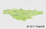 Physical Panoramic Map of Comoe, single color outside