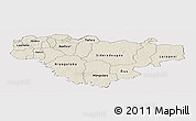 Shaded Relief Panoramic Map of Comoe, cropped outside