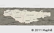 Shaded Relief Panoramic Map of Comoe, darken