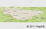 Shaded Relief Panoramic Map of Comoe, physical outside