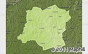 Physical Map of Sideradougou, darken