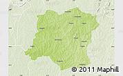 Physical Map of Sideradougou, lighten