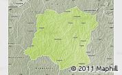 Physical Map of Sideradougou, semi-desaturated