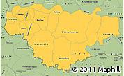 Savanna Style Simple Map of Comoe