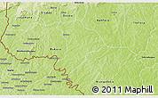 Physical 3D Map of Soubakaniedougou