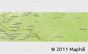 Physical Panoramic Map of Soubakaniedougou