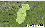 Physical 3D Map of Tiefora, darken