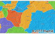 Political 3D Map of Tiefora
