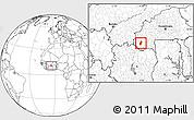 Blank Location Map of Tiefora