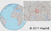 Gray Location Map of Tiefora