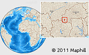Shaded Relief Location Map of Tiefora