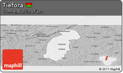 Gray Panoramic Map of Tiefora