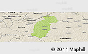 Physical Panoramic Map of Tiefora, shaded relief outside