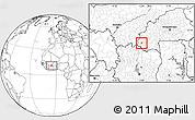 Blank Location Map of Wolonkoto