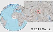Gray Location Map of Wolonkoto
