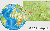 Physical Location Map of Wolonkoto, within the entire country