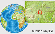 Physical Location Map of Wolonkoto