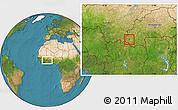Satellite Location Map of Wolonkoto