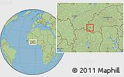 Savanna Style Location Map of Wolonkoto