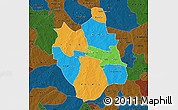 Political Map of Ganzourgou, darken