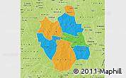 Political Map of Ganzourgou, physical outside