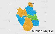 Political Map of Ganzourgou, single color outside