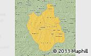 Savanna Style Map of Ganzourgou