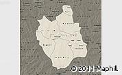 Shaded Relief Map of Ganzourgou, darken