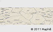 Shaded Relief Panoramic Map of Mogtedo