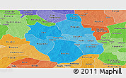 Political Shades Panoramic Map of Ganzourgou