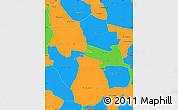 Political Simple Map of Ganzourgou
