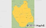 Savanna Style Simple Map of Ganzourgou