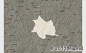Shaded Relief Map of Zam, darken