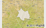 Shaded Relief Map of Zam, satellite outside