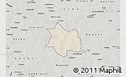 Shaded Relief Map of Zam, semi-desaturated