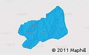 Political 3D Map of Bilanga, cropped outside