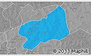 Political 3D Map of Bilanga, desaturated