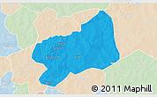 Political 3D Map of Bilanga, lighten