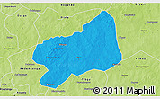 Political 3D Map of Bilanga, physical outside